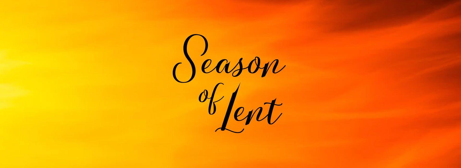 Season Of Lent 2021